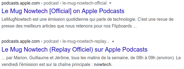 google answer is showing 2 same feeds. One is copyright infringement.